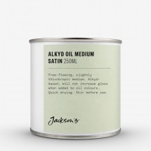 Jackson's : Alkyd Oil Medium : Fast-Drying To Thin Oil Paint : Satin : 250ml : Ship By Road Only