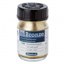 Schmincke : Oil Bronze Powder : 50ml : Rich Pale Gold : By Road Parcel Only