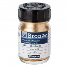 Schmincke : Oil Bronze Powder : 50ml : Pale Gold : By Road Parcel Only