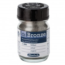 Schmincke : Oil Bronze Powder : 50ml : Silver : By Road Parcel Only