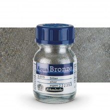 Schmincke : Aqua Bronze Powder : 20ml : Silver : By Road Parcel Only