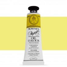 Daler Rowney : Artists' Oil Paint : 38ml : Lemon Yellow