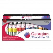Daler Rowney : Georgian Water Mixable Oil Paint Starter Set : 37ml : Set Of 10