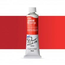 Holbein : Duo Aqua : Watermixable Oil Paint : 40ml : Cadmium Red Deep Hue