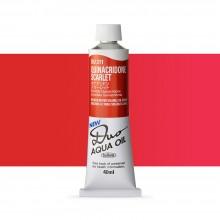 Holbein Duo-Aqua : Quinacridone Scarlet : 40ml tube
