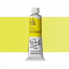 Holbein : Duo Aqua : Watermixable Oil Paint : 40ml : Lemon Yellow