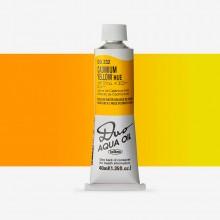 Holbein : Duo Aqua : Watermixable Oil Paint : 40ml : Cadmium Yellow Hue