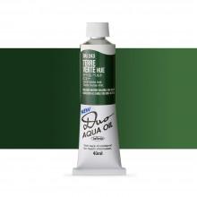 Holbein : Duo Aqua : Watermixable Oil Paint : 40ml : Terre Verte Hue
