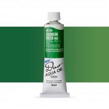 Holbein : Duo Aqua : Watermixable Oil Paint : 40ml : Cadmium Green Hue