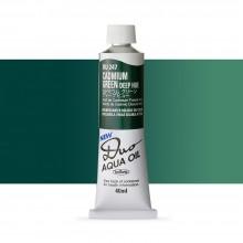 Holbein : Duo Aqua : Watermixable Oil Paint : 40ml : Cadmium Green Deep Hue