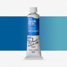 Holbein : Duo Aqua : Watermixable Oil Paint : 40ml : Cerulean Blue Hue