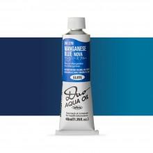 Holbein : Duo Aqua : Watermixable Oil Paint : 40ml : Manganese Blue Nova