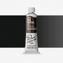 Holbein : Duo Aqua : Watermixable Oil Paint : 40ml : Ivory Black Hue