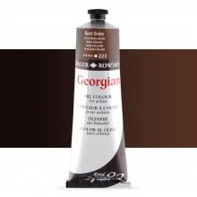 Daler Rowney : Georgian Oil Paint : 225ml : Burnt Umber