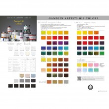 Gamblin : Artist Oil Colour Chart