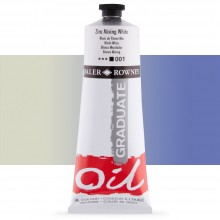 Daler Rowney : Graduate Oil Paint : 200ml : Zinc Mixing White