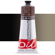 Daler Rowney : Graduate Oil Paint : 200ml : Burnt Umber