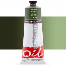Daler Rowney : Graduate Oil Paint : 200ml : Sap Green