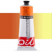 Daler Rowney : Graduate Oil Paint : 200ml : Yellow Orange