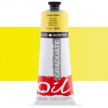 Daler Rowney : Graduate Oil Paint : 200ml : Lemon Yellow