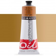 Daler Rowney : Graduate Oil Paint : 200ml : Raw Sienna