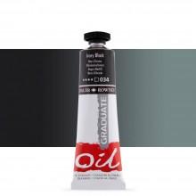 Daler Rowney : Graduate Oil Paint : 38ml : Ivory Black
