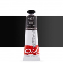 Daler Rowney : Graduate Oil Paint : 38ml : Lamp Black