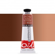 Daler Rowney : Graduate Oil Paint : 38ml : Burnt Sienna