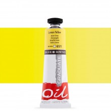 Daler Rowney : Graduate Oil Paint : 38ml : Lemon Yellow