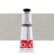 Daler Rowney : Graduate Oil Paint : 38ml : Silver