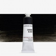 Langridge : Oil Paint : 40ml : Carbon Black