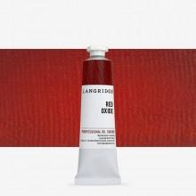 Langridge : Oil Paint : 40ml : Red Oxide