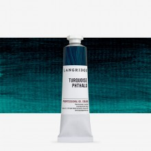 Langridge : Oil Paint : 40ml : Turquoise Phthalo