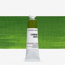 Langridge : Oil Paint : 40ml : Cadmium Green