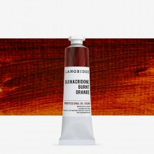 Langridge : Oil Paint : 40ml : Quinacridone Burnt Orange