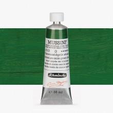 Schmincke : Mussini Oil Paint : 35ml : Chrome Green Oxide Deep