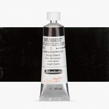 Schmincke : Mussini Oil Paint : 35ml : Lamp Black