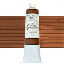 M. Graham : Artists' Oil Paint : 150ml : Burnt Sienna