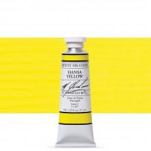 M. Graham : Artists' Oil Paint : 37ml : Hansa Yellow Lemon