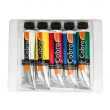 Talens : Cobra Artist Water Mixable Oil Paint : Starter Set Of 5 x 40ml :