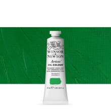 Winsor & Newton : Artists Oil Paint : 37ml Tube : Permanent Green Light