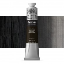 Winsor & Newton : Artisan : Water Mixable Oil Paint : 200ml : Lamp Black