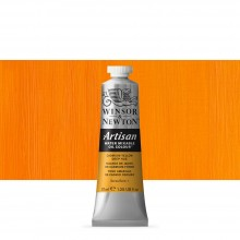 Winsor & Newton : Artisan Water Mixable Oil Paint : 37ml : Cadmium Yellow Deep