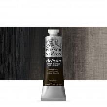Winsor & Newton : Artisan : Water Mixable Oil Paint : 37ml : Ivory Black