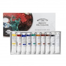 Winsor & Newton : Artists Oil Paint : Introductory Set Of 10x21ml
