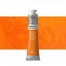 Winsor & Newton : Winton Oil Paint : 200ml : Cadmium Orange Hue