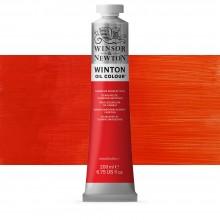 Winsor & Newton : Winton Oil Paint : 200ml : Cadmium Scarlet Hue