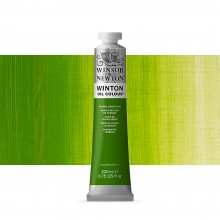 Winsor & Newton : Winton : Oil Paint : 200ml : Chrome Green Hue