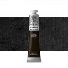 Winsor & Newton : Winton Oil Paint : 200ml : Ivory Black