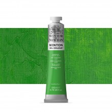 Winsor & Newton : Winton : Oil Paint : 200ml : Permanent Green Light